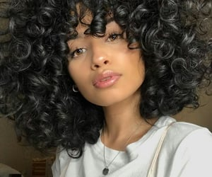 Afro, curly hair, and cabello rizado image