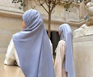 beauty, elegance, and hijab image
