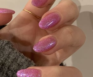 aesthetics, nails, and glittery nails image