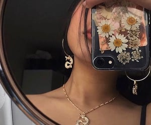 flowers, jewelry, and style image