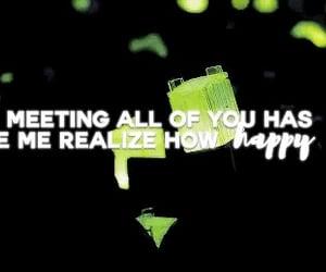 concert, green, and Lyrics image