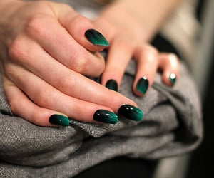 nails, green, and black image