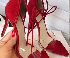 shoes, red, and fashion image