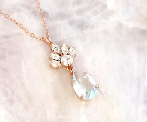 bridal necklace, something blue, and silver necklace image