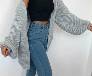 fashion, style, and cardigan image