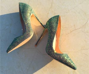 sparkly, glitter sequins, and pointed toe image