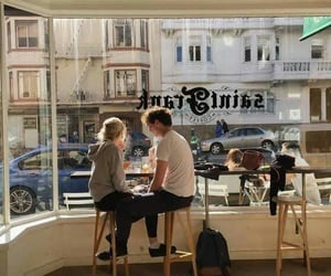 couple, love, and cafe image