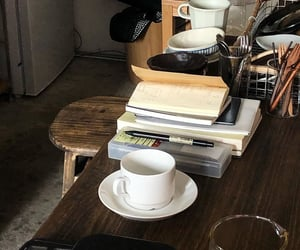 books, cafe, and knowledge image