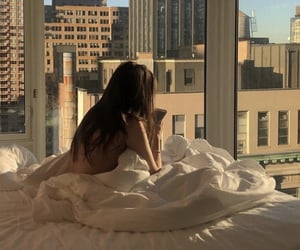 girl, city, and bedroom image