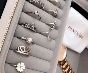 pandora, luxury, and rings image