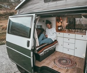 hippie and van image