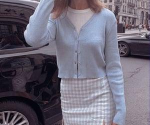 blue, cardigan, and new york image