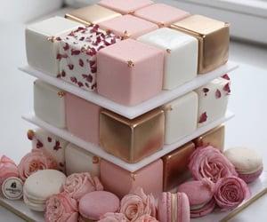 girl, beautiful, and cake image