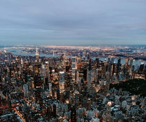 aesthetic, lights, and new york city image