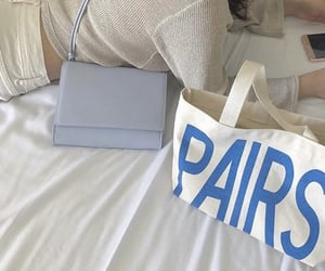 aesthetic, baby blue, and bag image