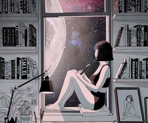 art, books, and cosmos image