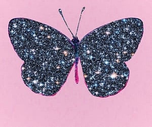butterfly, background, and glitter image