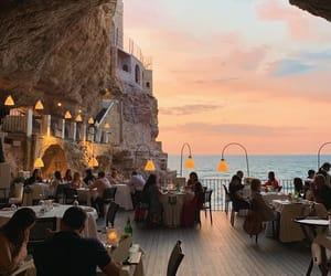 sunset, travel, and restaurant image