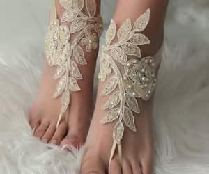 etsy, beach shoes, and foot jewelry image