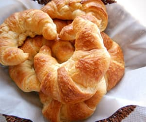 bread, croissants, and croissant image