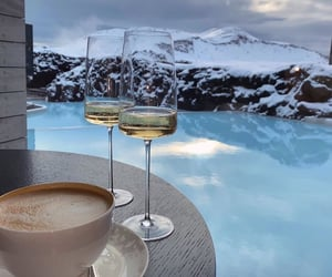 drink, coffee, and wine image