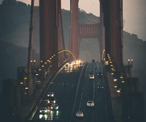 golden gate bridge, sunset, and photograph image