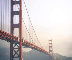 sunset, photograph, and golden gate bridge image