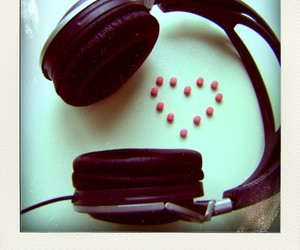earphone, heart, and lovemusic image