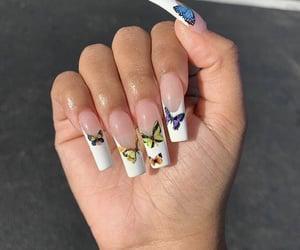 acrylics, idea, and nails image