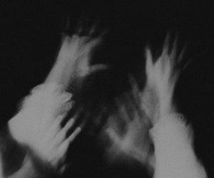 dark, black, and white image