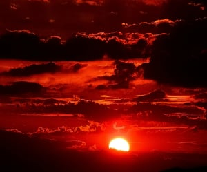 red, sun, and sky image