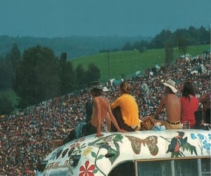 woodstock, 70s, and people image