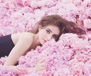 actress, ad, and roses image