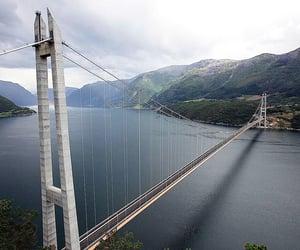 norway, suspension bridge, and bu tunnel image