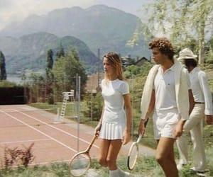 tennis, boy, and girl image
