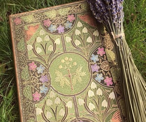 aesthetic, book, and lavender image