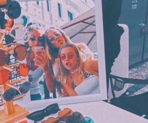 fun, girls, and mirror image