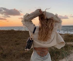 fashion, girl, and sea image