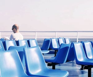 blue, boat, and commute image