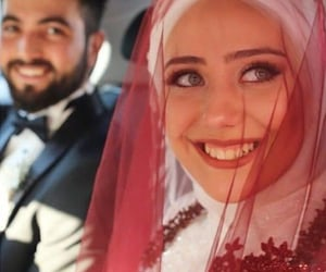 couples, muslim, and groom image