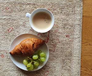 breakfast, croissant, and dainty image