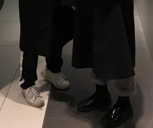 dark, aesthetic, and shoes image
