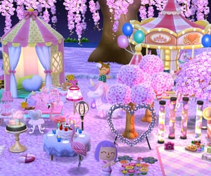 aesthetic, animal crossing, and cherry blossom image