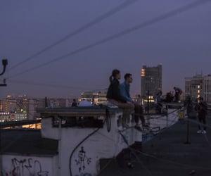 night, city, and love image