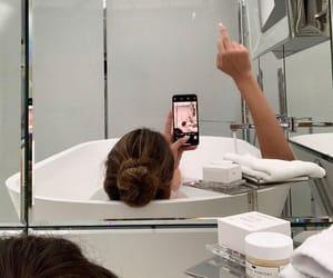bath time, bathtub, and bubble bath image