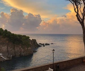 travel, sunset, and sea image