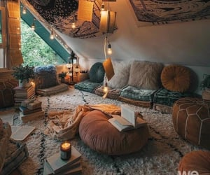 home, room, and cozy image