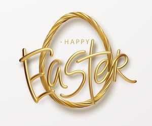background, easter, and gold image