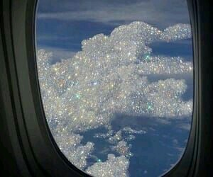 clouds, aesthetic, and glitter image