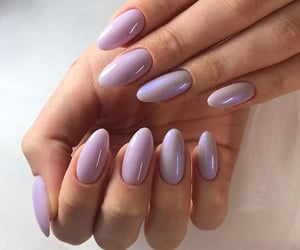 lilac, nails, and style image